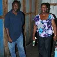 Mr.Eloi- Man.DOES(left) Hon Gloria Shillingford Minister For Social Services (right)